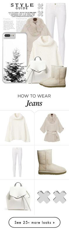 """""""Get The Look. Shades of White"""" by artbyjwp on Polyvore featuring Frame, Witchery, MANGO, Forever 21 and UGG"""