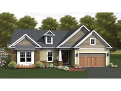 2 Bedroom; 2 bath; 1 car garage - #houseplans