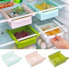 Plástico de Cocina Congelador de Ahorro de Espacio de Estante Del Sostenedor Del…