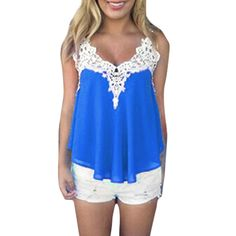 >> Click to Buy << Women Sleeveless Chiffon T Shirts Loose Crochet Lace V Neck Sexy Tops Plus Size 3XL Fashion Casual Summer Tops #Affiliate