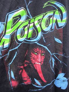 Vintage 1988 Poison TShirt 80's by tigermountain on Etsy