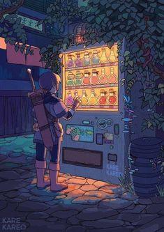 Illustration inspiration by Kare Kareo Art Inspo, Kunst Inspo, Inspiration Art, Aesthetic Anime, Aesthetic Art, Aesthetic Beauty, Pretty Art, Cute Art, Fantasy Kunst