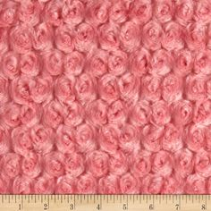 Shannon Minky Rose Cuddle Coral Fabric By The Yard: This ultra plush and cuddly fabric has a silky surface with rosette embossing. 12 mm pile 600 grams and is perfect for creating blankets baby accessories plush toys and more! Coral Fabric, Baby Fabric, Minky Fabric, Felt Fabric, Easy Yarn Crafts, Fabric Crafts, Sewing Crafts, Sewing Hacks, Sewing Tutorials