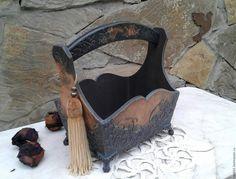"""Купить Интерьерная корзина """"Шармон"""" - подарок, подарок на любой случай, винтаж, коричневый, Корзина для хранения"""