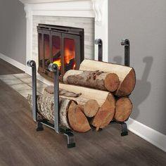 Plow & Hearth Single Panel Steel Fireplace Screen & Reviews | Wayfair Garden Patio Furniture, Steel Racks, Fireplace Screens, Tile Over Tile, Hearth, Log Home Interiors, Wood Basket, Shelves Around Fireplace, Fireplace Tools
