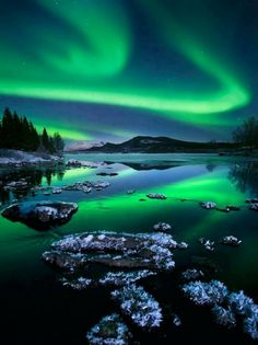 Somewhere in Alaska... / I can totally picture Meriwether and Madeline holding hands and gazing up on the Northern Lights