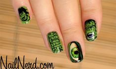 The Incredible Hulk. | 29 Examples Of Marvellously Geeky Nail Art