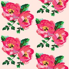 Happy Day Floral - Pink fabric by shopcabin on Spoonflower - custom fabric