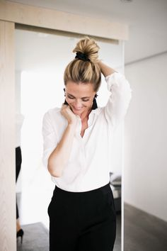 How to express your personal style at work? by Sofia Ruutu Blond, Work Outfits, Summer Outfits, Office Style, Office Fashion, Life Is Beautiful, Short, Locks, Leather Skirt