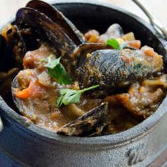 Spicy seafood potjie. Make them the good ol' SA way