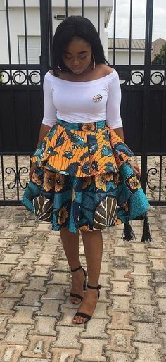 Hottest Kente Styles For Celebrities Diyanu - Aso Ebi Styles African Print Skirt, African Print Dresses, African Print Fashion, Africa Fashion, African Prints, African Fabric, Short African Dresses, Ghanaian Fashion, Latest African Fashion Dresses