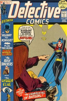 NEW! Batgirl's secret identity is not that secret to the disclosee. (Around this time, Barbara Gordon was a Congresswoman. Either she's 25 or DC had a fictitious law passed to allow a young girl to serve in Washington. DC chose the latter.) NEW, TOO! Neal Adams' cover illustrating same and a Bat-story by Denny O'Neil and someone else. OLD! Two whodunits from the age between Golden and Silver.