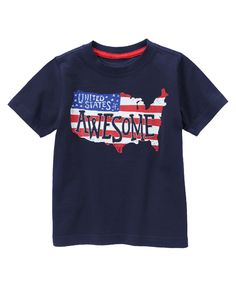 United States of Awesome Tee at Gymboree Collection Name: Star-Spangled Summer (2015)