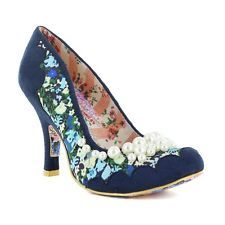 NEW IRREGULAR CHOICE *PEARLY GIRLY* NAVY HIGH HEELS UK - 3.5,4,5,6,6.5,7.5,8