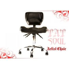 TATSoul 270 ARTIST CHAIR - Highly Adjustable Artist Chair. * Ultra comfortable seat design to mold to your body * Ergonomic back rest design. * Full range of adjustments including back tilt, seat tilt, backrest height adjustment, hydraulic chair height adjustment. * Flexible backrest to fit any part of your back. * Patented straddle position helps relieve back pressure by using the back rest as a chest support. * Stylish design that is a perfect pair to our TATSoul 370 Client Chair.