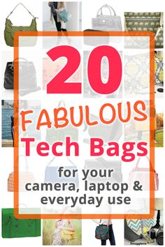20 Stylish Tech Bags - carry your laptop, camera, tablet and more in style with one of these fabulous bags! #tech #bags #style