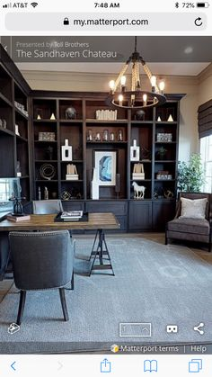 Office Interior Design, Home Office Decor, Office Interiors, Interior Design Living Room, Home Music Rooms, Arlington House, Flex Room, Transitional House, Diy Home Decor Projects