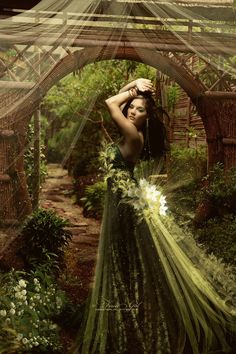 """wolfdancer: """" Her Gift ~ She makes the flowers bloom around her. """""""