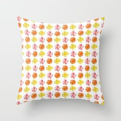 Flower Pattern #1 | For a new, high quality natural cosmetic line, I created different watercolor paintings. All paintings couldn't be used, so I'd like to share it with you – here you can see a flower pattern. #Painting #Watercolor #Decoration #Unique #Design #Watercolor #Colorful #Paint #Flowery #Girly #Botanic #Pattern #Flower #Flowers #Nature #Floral #Garden #Botanical #Elegant #Plant #Kathrinmay #pillow #society6