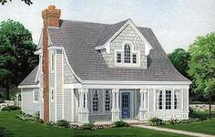 Cute plan; simple yet with all we need. Add porch and sunroom on right side, attached garage, too