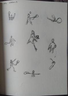 Schetsen 9 (tennishouding bestuderen)