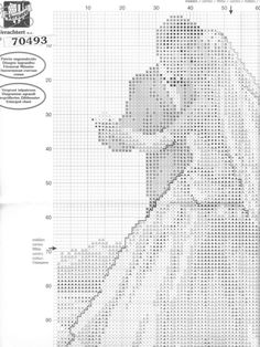 Gallery.ru / Фото #1 - ***** - celita Cross Stitch Family, Wedding Cross Stitch, Wedding Announcements, Cross Stitch Charts, Filet Crochet, Cross Stitching, Sewing Crafts, Fabric, Pattern