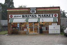 Route 66 -- Wrinks Market. A Rt. 66 landmark in Lebanon, Missouri.