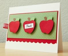 Cricut Apple Thank You Card | Flickr - Photo Sharing!