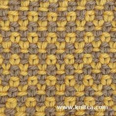 knit - slip stitch zigzag print - this looks just like crochet but it is essentially bi colored linen stitch