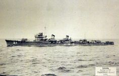 IJN Destroyer Wakaba, a Hatsuharu class, port view 1938. Wakaba was sunk during the Battle of Leyte Gulf, October 24, 1944.