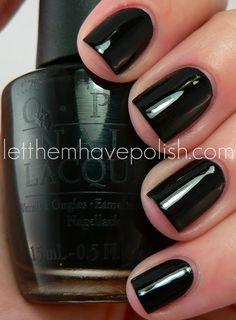 OPI - Black Onyx / LetThemHavePolish. Will forever be my FAVORITE go-to toe nail choice