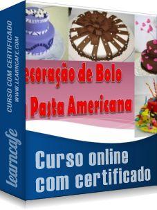 Decoração de Bolos com Pasta Americana - Você irá aprender com esse Curso…
