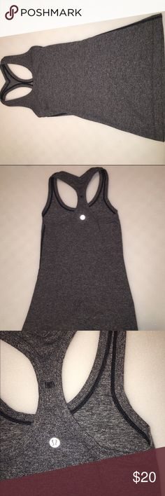 Lululemon Cool Racerback II Gray Lululemon Cool Racerback II shirt. It is in stellar condition and shows no sign of wear except for a missing tag. This exclusive shirt is ONLY sold online! lululemon athletica Tops Tank Tops