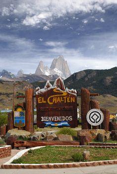 Bienvenidos en El Chaltén, Patagonia, Argentina