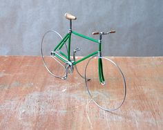 Green Fixed Gear Wire Bike by likethepastry on Etsy, $22.00    For tanner