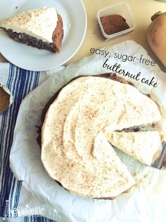 Butternut squash cake uses no sugar and is made with squash. And...it's delicious and easy!