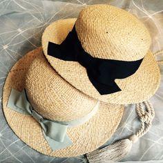 東京・高円寺の帽子屋MANABoo  バラ色の帽子 ラフィアリボンキャノチェ