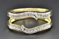 Diamond Enhancer Wrap Solitaire Engagement Ring Round Cut 14K Yellow Gold .38 Ct #JewelryForLess #WithDiamonds