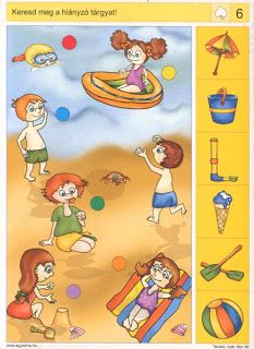 Keresd meg a hiányzó tárgyakat! Gross Motor Activities, Autism Activities, Montessori Activities, Activities For Kids, Preschool Printables, Preschool Math, Preschool Worksheets, Logic Games For Kids, Preschool Pictures