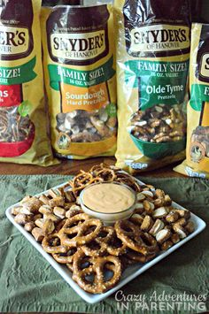 Beer Cheese Pretzel Dip with Snyder's of Hanover