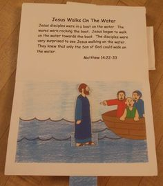 Miracles of Jesus Pop-up Book   Bible Songs And More Jesus walks on the water