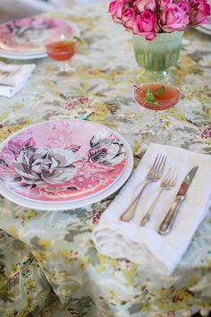 vintage inspired floral melamine plates / sfgirlbybay
