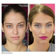 Krásna pred a krásna po 💞 s produktmi z Krasotiky <3 Použité produkty: 🎀 Make-up Make-up Milani Perfect, odtieň 01 a 02 🎀 Minerálny transparentný púder L.A. Girl HD PRO Setting Powder 🎀 Kontúrovací púder W7 Honolulu 🎀 Lícenka Nabla Blossom Blush, odtieň Daisy 🎀 Rozjasňovač OPV Highlighters, odtieň Glam-o-rous 🎀 Ceruzka na obočie L.A. Girl Shady Slim Brow Pencil, odtieň Brunette 🎀 Paleta očných tieňov Morphe Color 35W  🎀 Krémový očný tieň Nabla, odtieň Christine 🎀 Riasenka Milani…