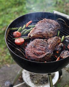 You are 35 minutes, and 3 steps away from Masala rib-eye steaks with tomato okra relish for dinner tonight.