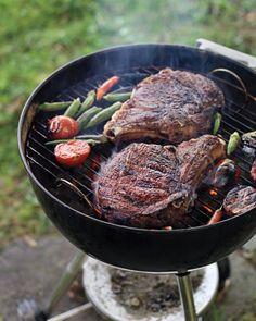 Masala-Spiced Rib-Eye Steaks with Tomato-Okra Relish Recipe