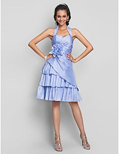 TS Couture® Cocktail Party / Homecoming / Prom / Sweet 16 Dress - Short Plus Size / Petite A-line Halter / Sweetheart Knee-length Taffeta