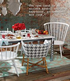 """Riviera 55"""" Square Zellij Tile Top Dining Table I Crate and Barrel Paola Navone Collection"""