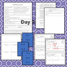 Math Lesson Plans, Math Lessons, 3rd Grade Math Worksheets, Math Blocks, Math Talk, Data Tracking, Learning Targets, Student Data, Multiplication Facts