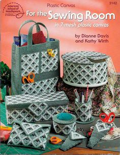 Plastic Canvas Sheets | ... Sewing Room (in 7-mesh plastic canvas) -- Plastic Canvas Pattern Book