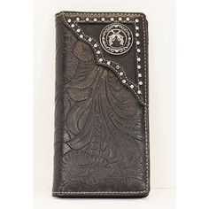 Black Crossing Pistols Long Folding Wallet